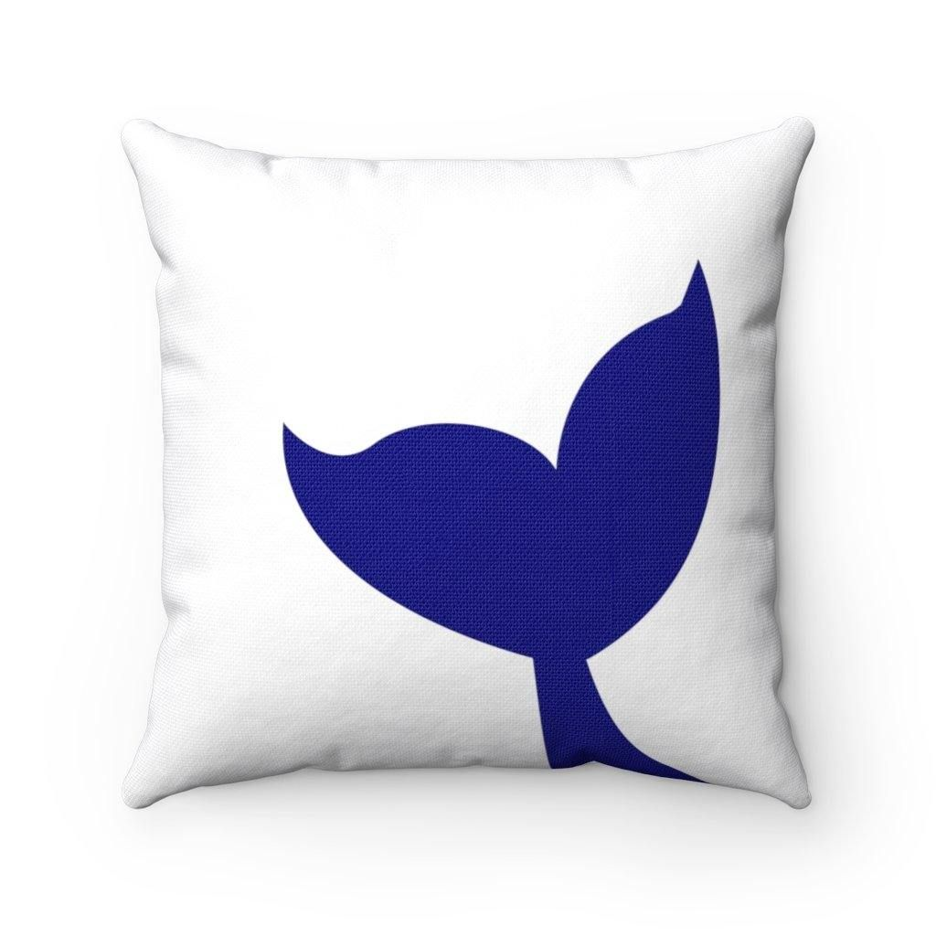 Photo of Blue Whale Tail – Square Pillow – 14 × 14