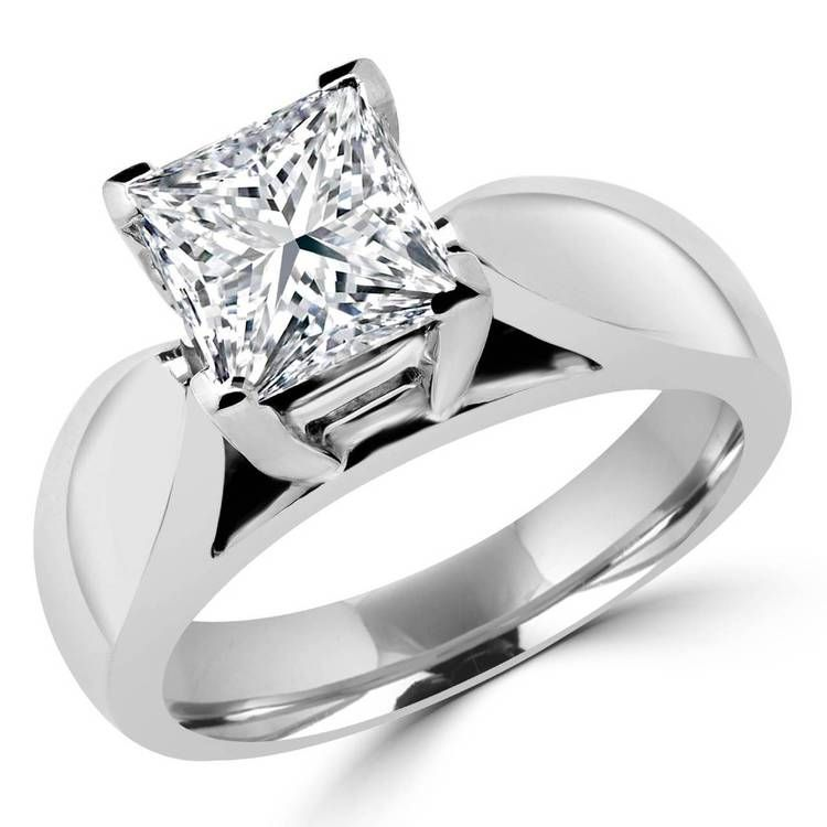 You Have Reached The Ring Were Looking For This Classic Solitaire Princess Cut Diamond