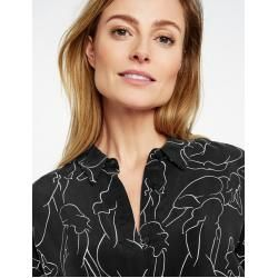 Photo of Gerry Weber Art Print Shirt Dress Black Women Gerry Weber