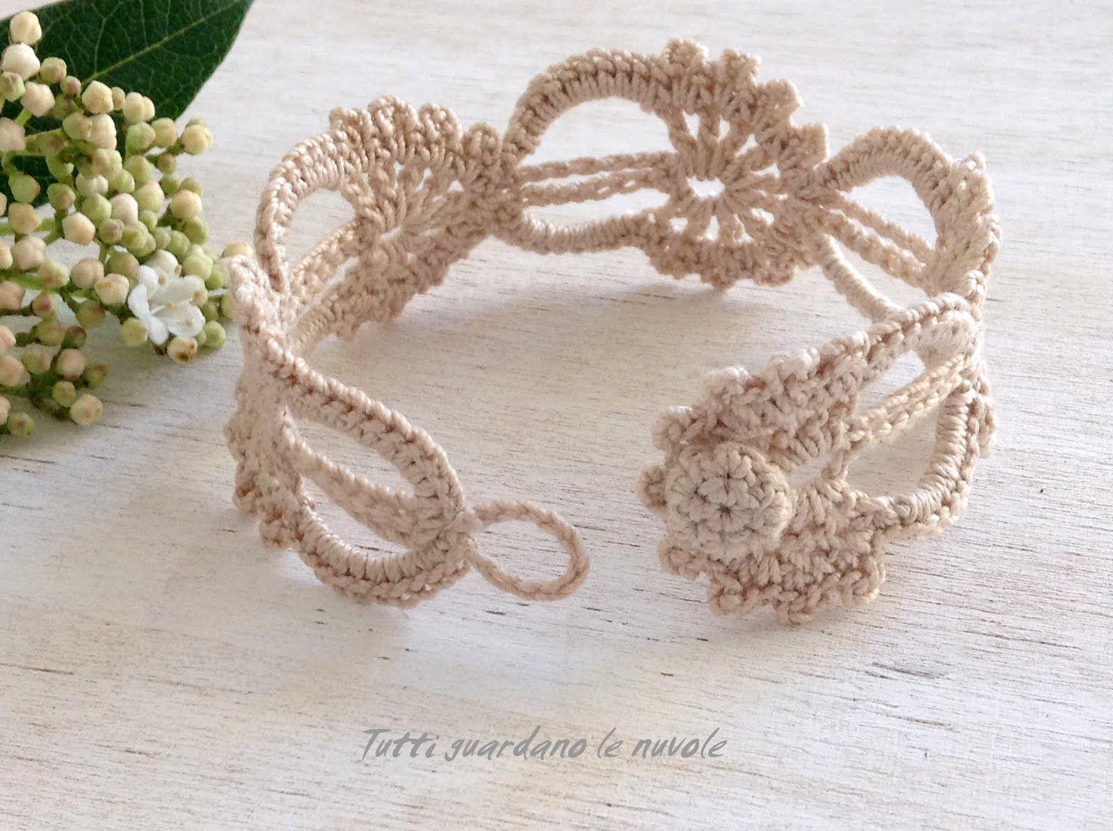 Bracciale E Segnalibro A Crochet Schema Pattern Handmade