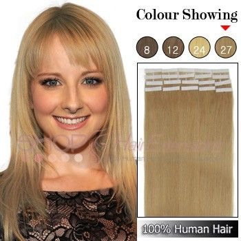16 Inch Straight 40pcs 2g S Grade Aaa Tape Remy Hair Extensions