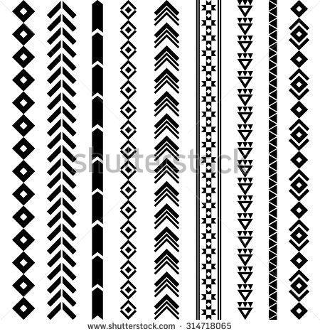 Navajo Geometric Tattoo Designs | Stammes-geometrisches Muster. Azteken und Navajo orn ...  - Selfmade - Borten - #Azteken #Borten #Designs #Geometric #Muster #Navajo #orn #Selfmade #Stammesgeometrisches #Tattoo #und #aztec