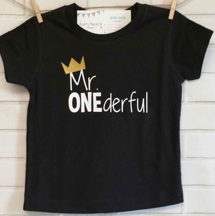 Our Mr ONEderful Birthday Shirts Are