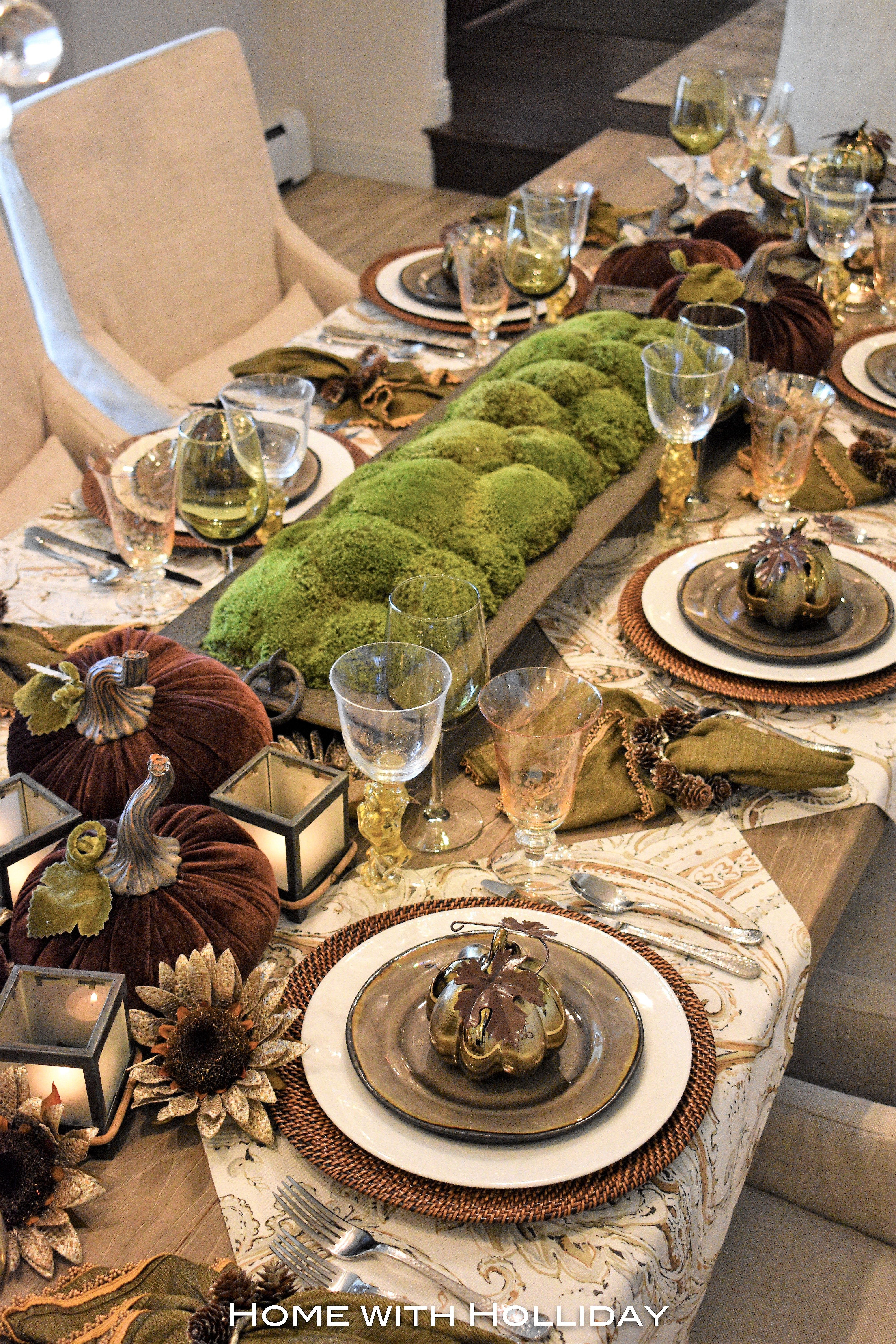 Creative Ideas for Fall or Thanksgiving Table Settings and ...