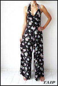 Papaya Czarny Kombinezon W Kwiatki 40 Fashion Dresses Jumpsuit