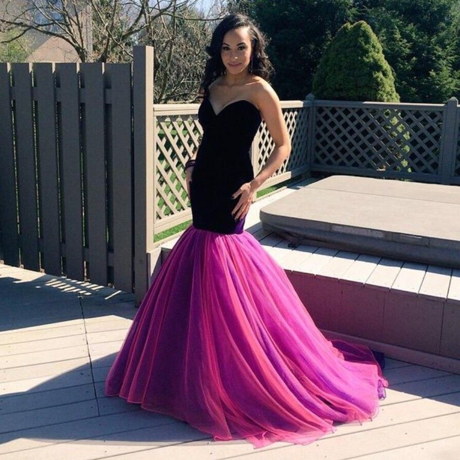 vestidos de baile Mermaid Sweetheart Sleeveless Backless Sweep Train Long Dress For Prom Party Dresses 2016