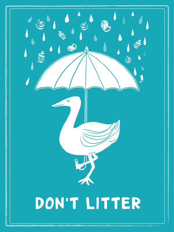 Anti-litter campaign poster by Hillary Lacher. | Graphics for good ...