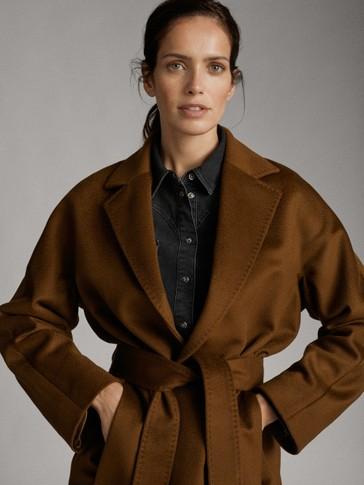 Long wool coat with belt   Long wool coat, Coat, Wool coat