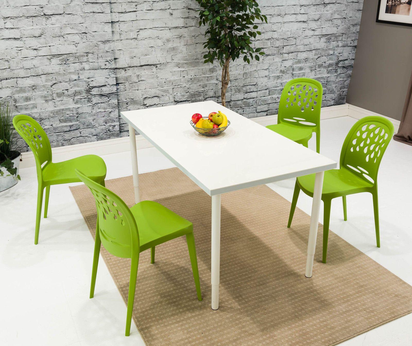 Atomic green retro mid century modern style teardrop dining chair