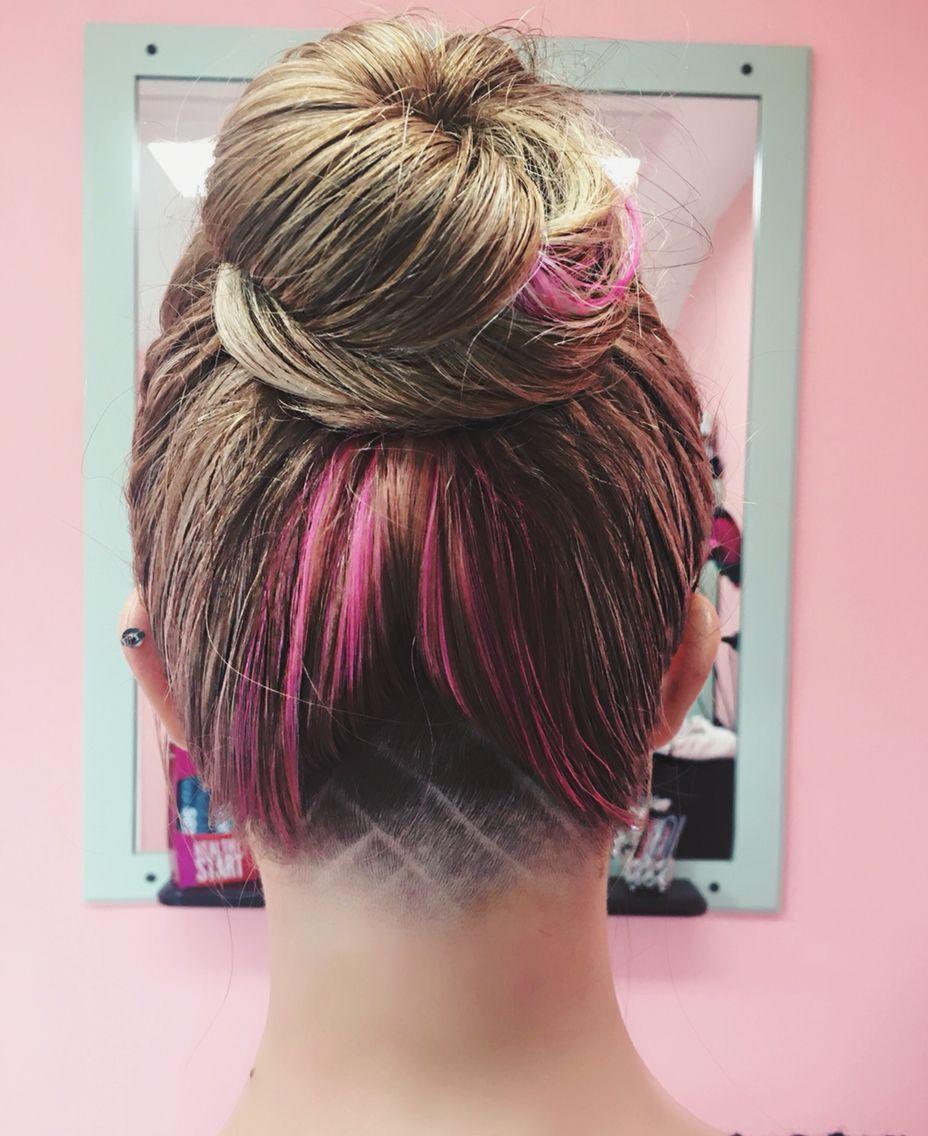 undercut design. hairstyle hair