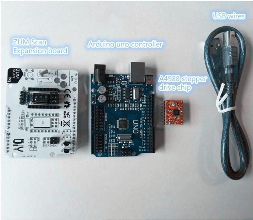 BQ Ciclop DIY 3D Scanner ZUM shield - electronics set