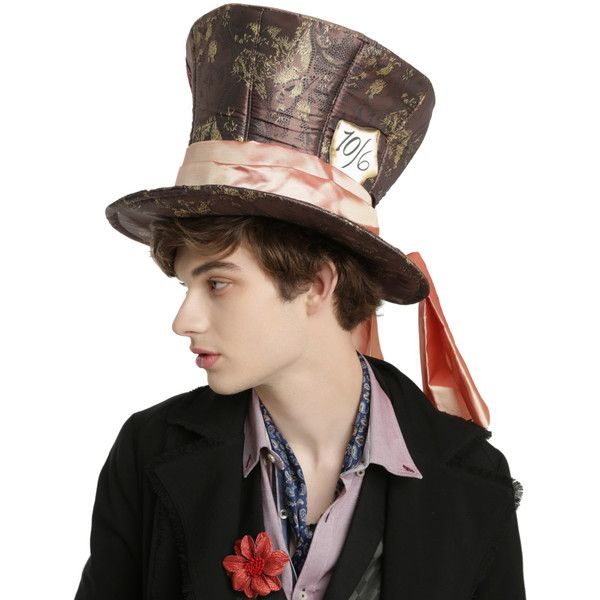 Disney Alice Through The Looking Glass Mad Hatter Cosplay Hat (35 AUD) ❤ liked on Polyvore featuring accessories, hats, halloween, multi, glass hat, disney hats and disney