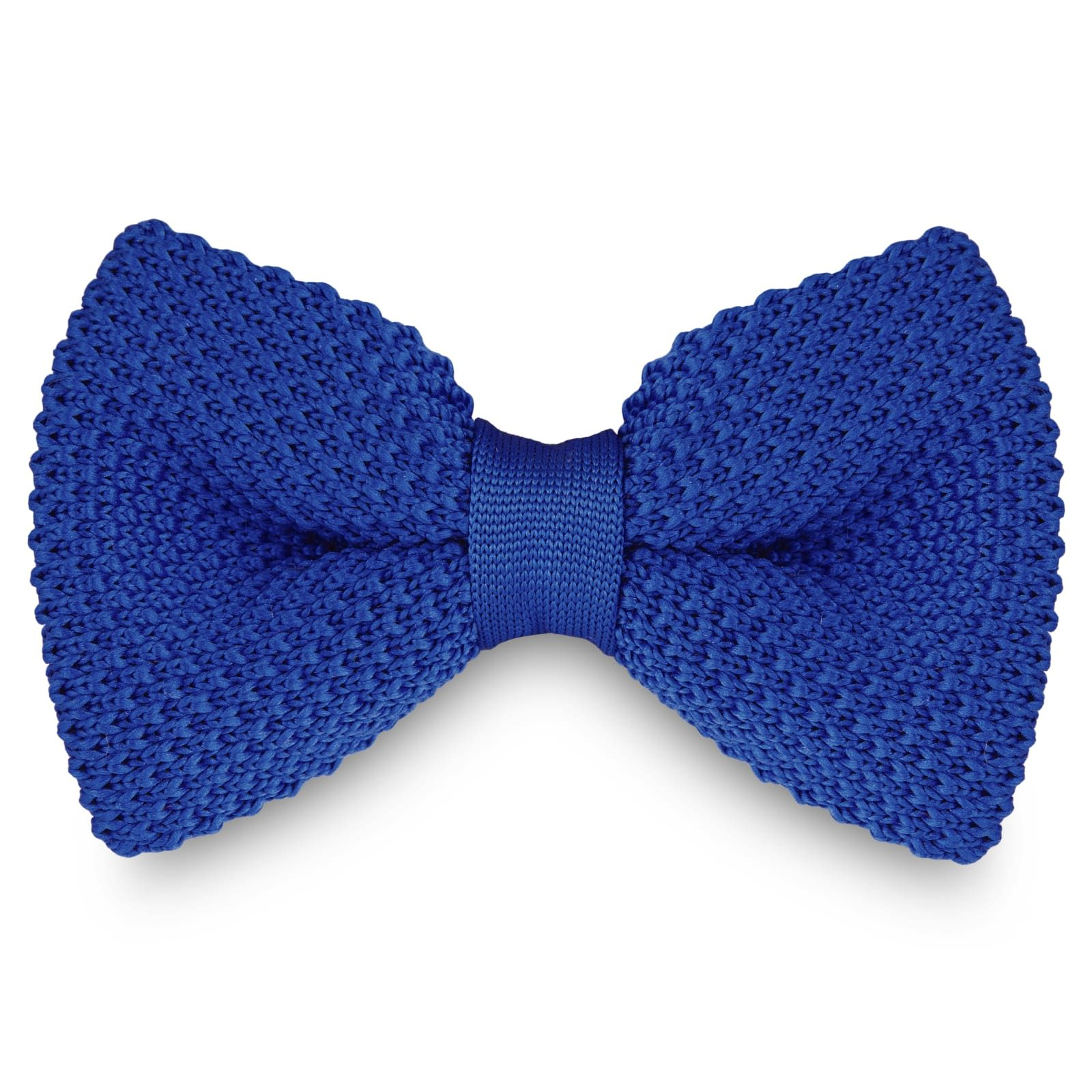 Photo of Blue Knitted Bow Tie | In stock! | Tailor Toki