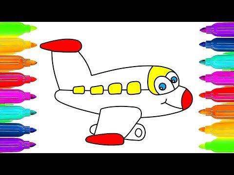 Uçak Boyama Uçak Nasıl çizilir Ve Boyanır çocuklar Için Boyama