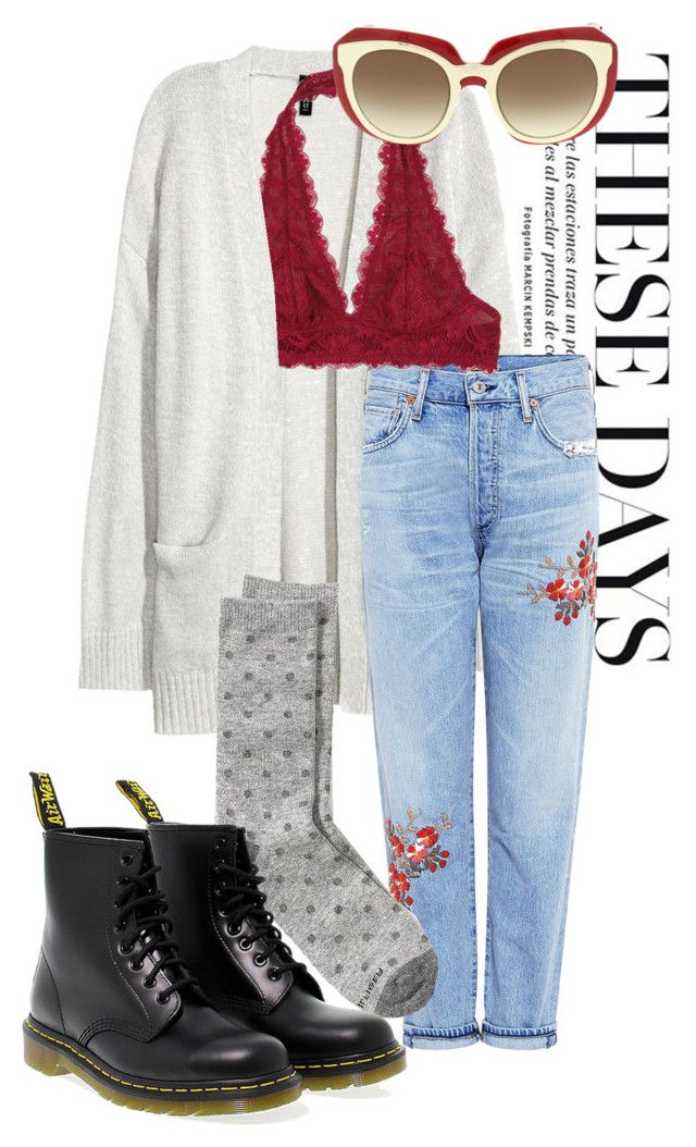 """""""#21"""" by zohohohoie ❤ liked on Polyvore featuring Kofta, Citizens of Humanity, Free People, Tommy Hilfiger, Dr. Martens and Dolce&Gabbana"""