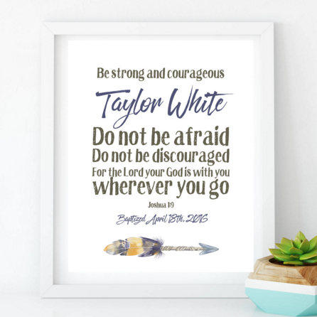 Baby christening gifts baby baptism gifts catholic baby gifts baby christening gifts baby baptism gifts catholic baby gifts christian baby gifts arrow art print personalized bible verse quote art print negle Gallery