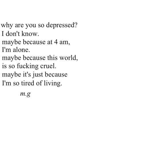 Emo Quotes About Suicide: Quote Depressed Depression Sad Suicidal Suicide Quotes