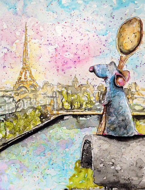 Amazing Watercolor Painting Of Disney S Ratatouille By