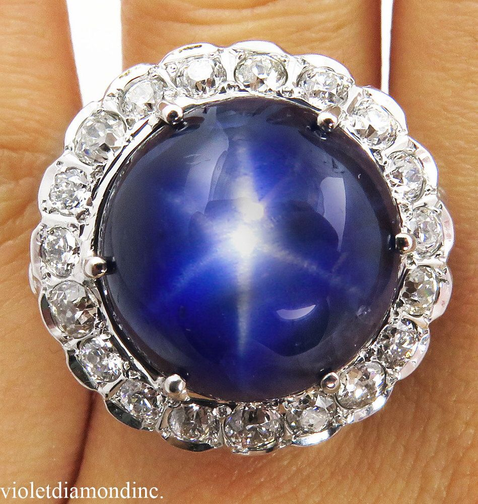 AGL 24.03ct Vintage NO Heat Burma Blue Star Sapphire