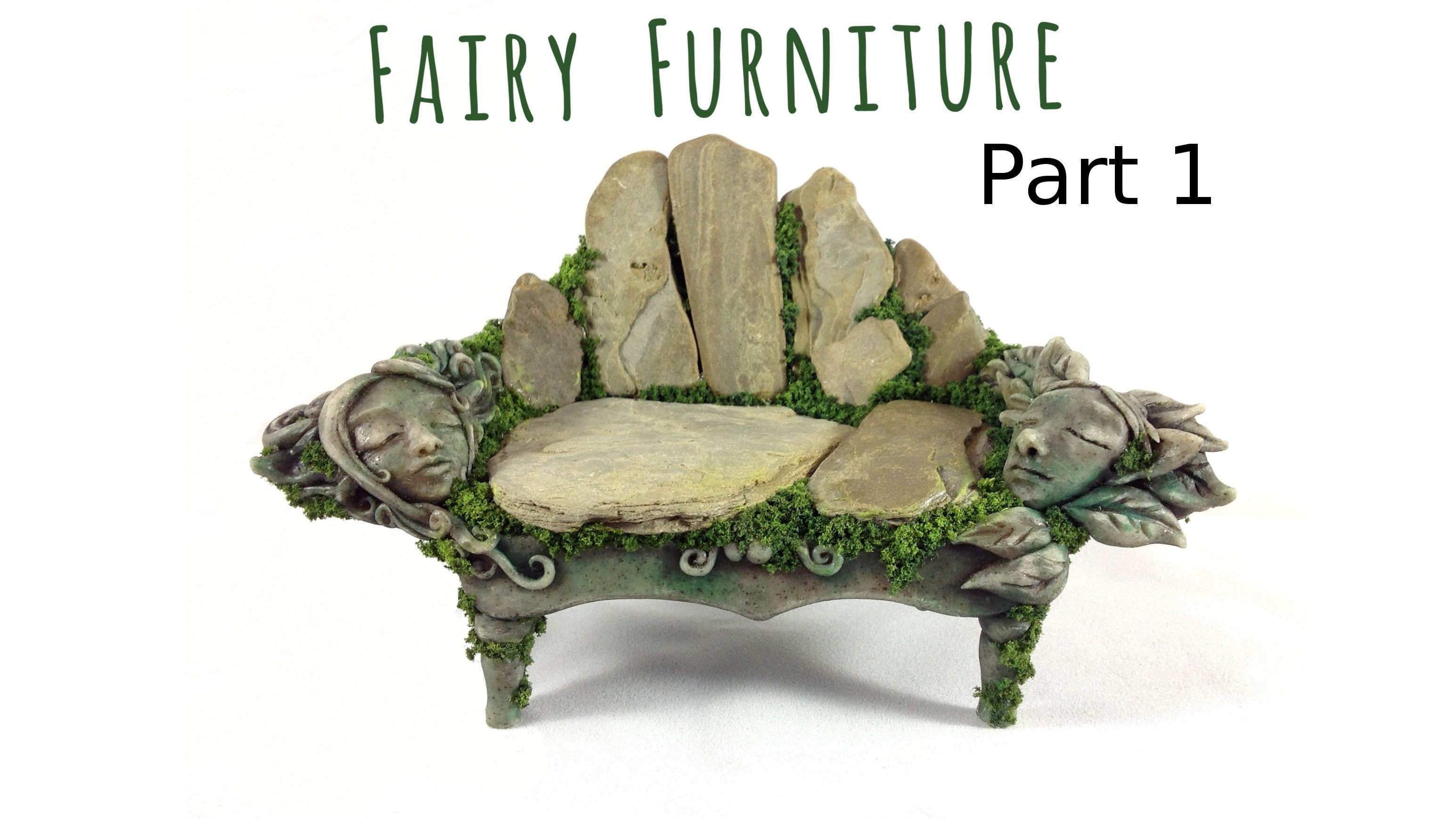 Superieur How To Make Fairy Furniture Out Of Clay U0026 Rocks: Part 1, DIY Fairy Garden  Bench