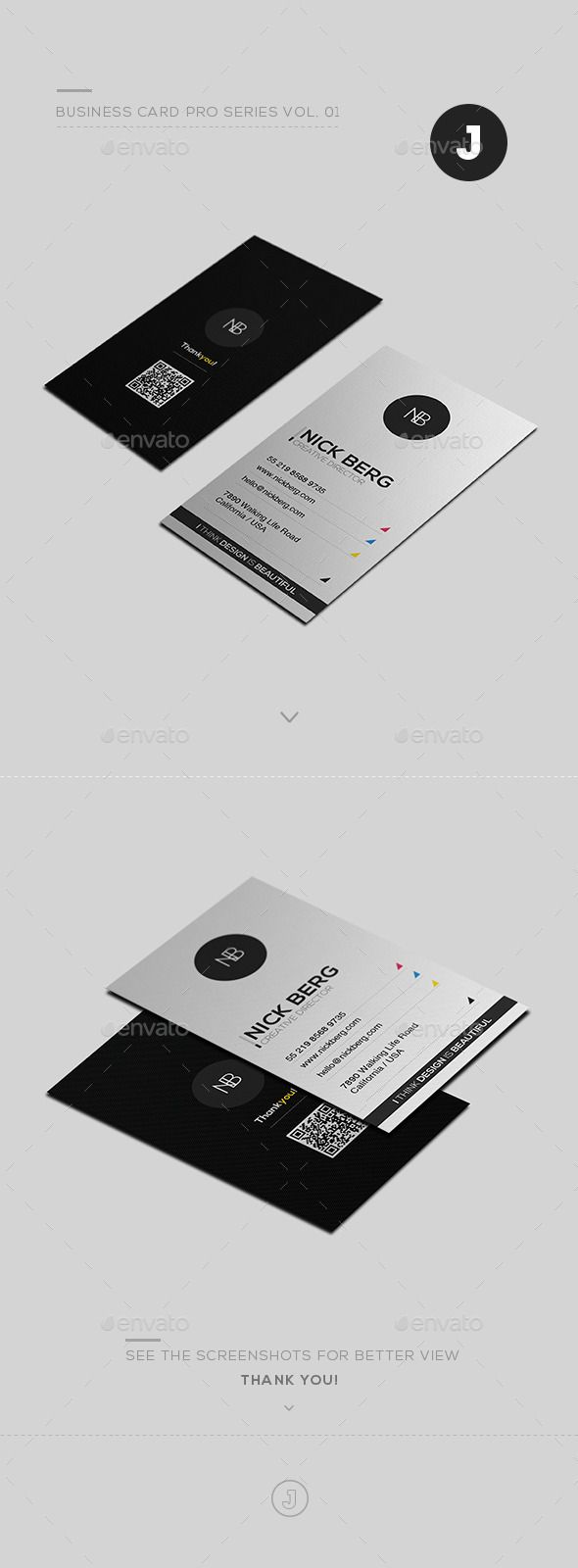 Business Card Pro Series Vol. 01 | Business cards, Business and Card ...