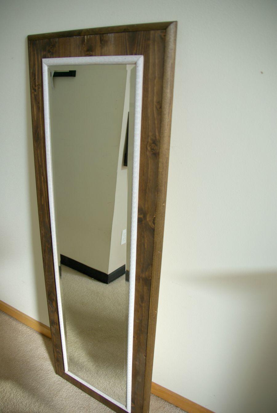 Diy Floor Mirror Frame Mirror Frame Diy Diy Mirror Diy Floor