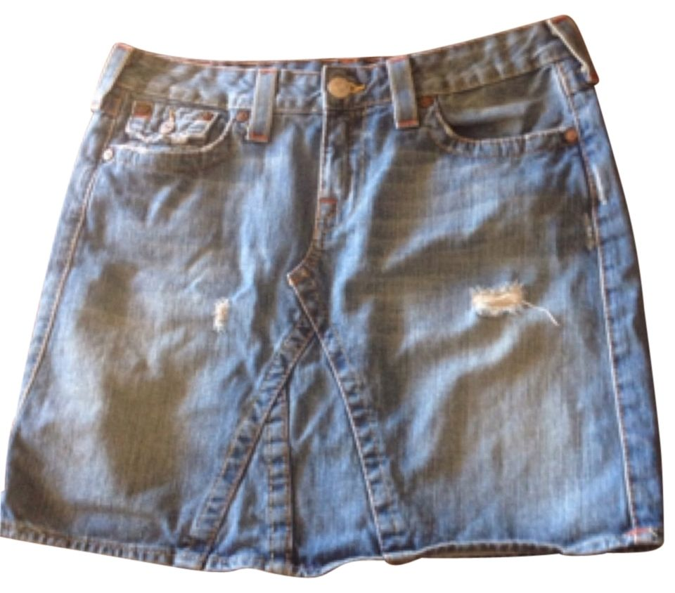 True Religion Joey Skirt. Free shipping and guaranteed authenticity on True Religion Joey Skirt at Tradesy. True Religion Denim Skirt Size: 30               ...