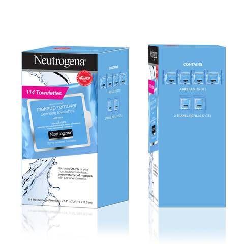 Neutrogena Makeup Remover Facial Towelettes 114 Count