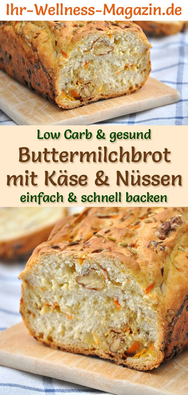 Photo of Low Carb Buttermilk Bread with Cheese and Nuts – Healthy Reze …