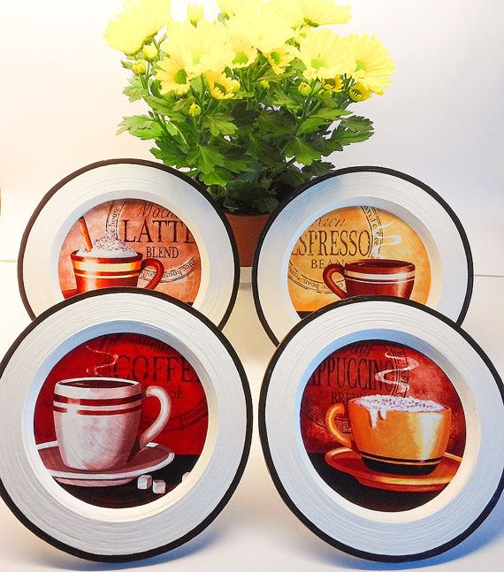 Coffee Decor Kitchen Wall By Paperplateart