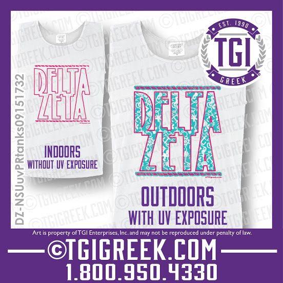 TGI Greek - Delta Zeta - Color Changing Ink - Comfort Colors - Greek T-shirts - Pr Shirts  #tgigreek #deltazeta #colorchangeink