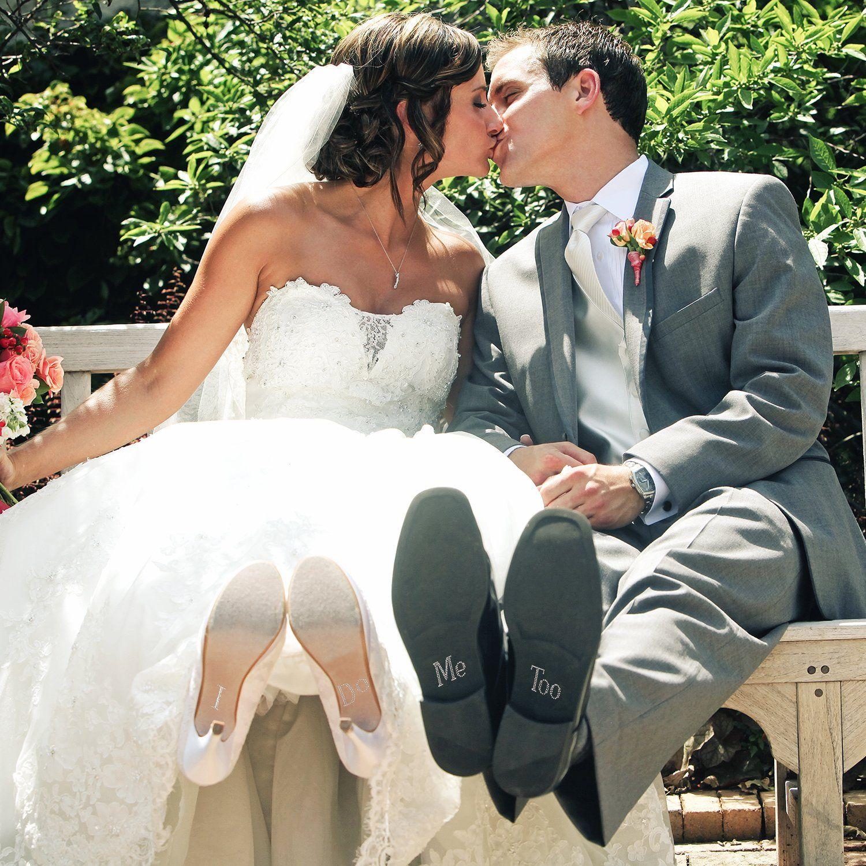 Bride & Groom Rhinestone Shoe Decal Set Rhinestone shoes