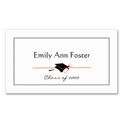 Personalized Graduation Name Cards 2018 Graduation Collections