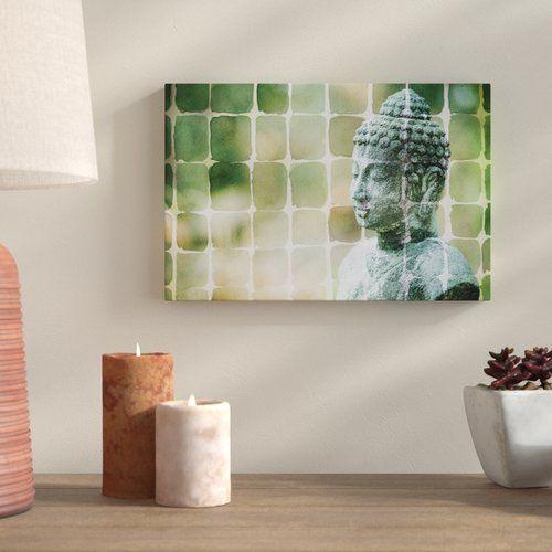 The Zen Garden Framed Graphic Art Print On Canvas In Green East