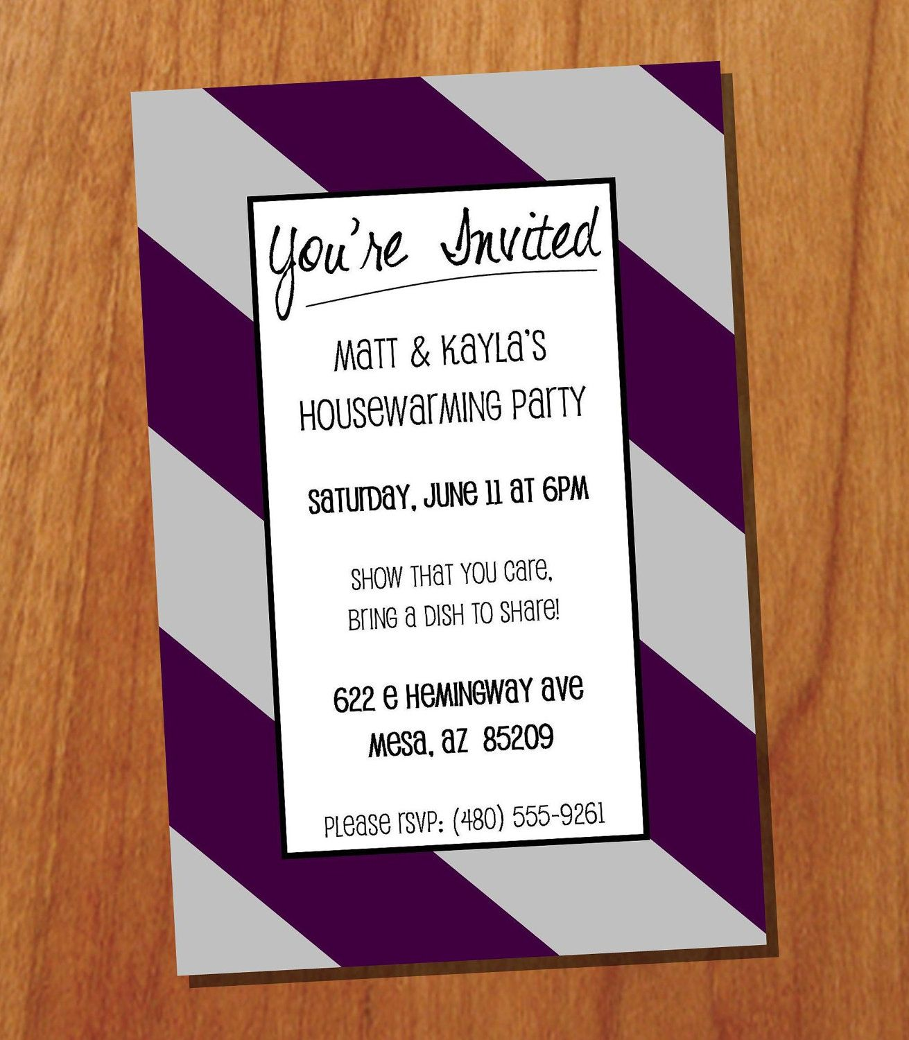 Housewarming Party X Custom Printable Invitation Digital