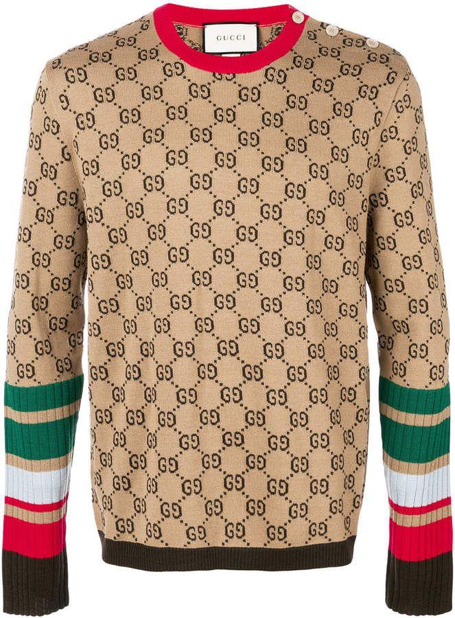 6f70e785068 Gucci Logo Intarsia Knitted Jumper - Farfetch