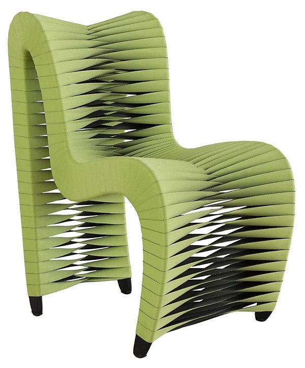 Seat Belt Dining Chair Green Clic