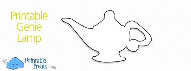 Printable Genie Lamp u2014 Printable Treats Lamp Pinterest - flat stanley template