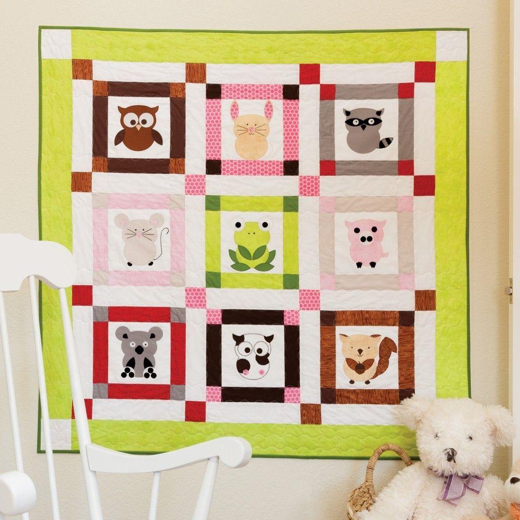GO! Talk To The Animals Baby Quilt | quilts | Pinterest | Quilt ... : animal baby quilt patterns - Adamdwight.com