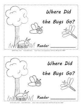 $1 Temporary New Release Price....Bug & Insect Friends-Where Did the Bugs Go? Positional Words Cut and Paste Activity Reader. 12 Pages total, including title page.
