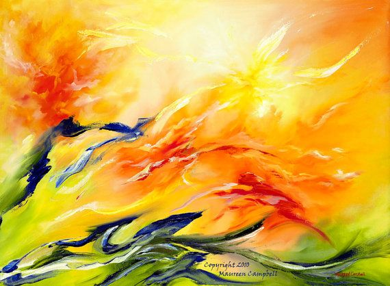 Sun Dance Energy Abstract Archival Print 23 in x 17 in. on Etsy, $55.00
