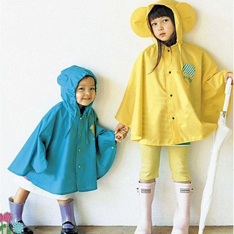 7709ba41c3c1 Girl Boys Baby Children Kids Raincoat Rain Coat Suit Cape Rainwear ...