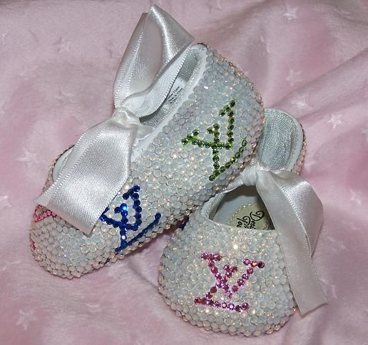 1874946261a6 Haha LV-Baby Bling Shoes   Rhinestone Baby Shoes   Crystal Baby ...
