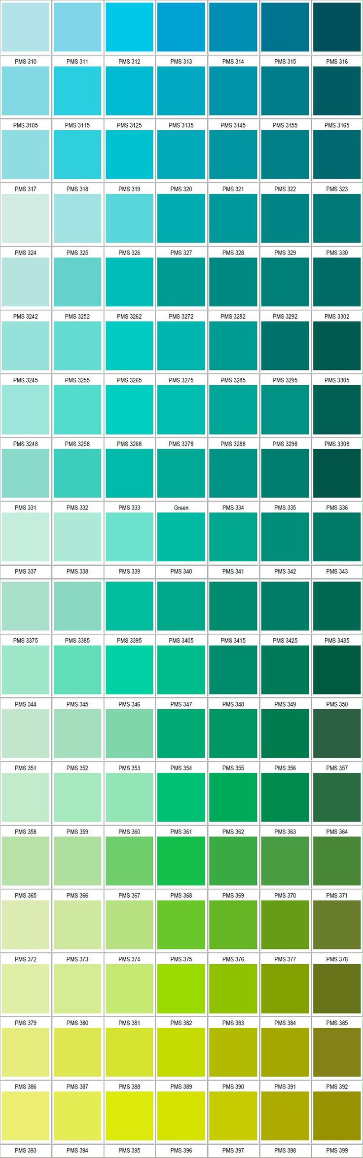 Paleta de verdes Pantone 2 | Paletas de color | Pinterest | Pantone