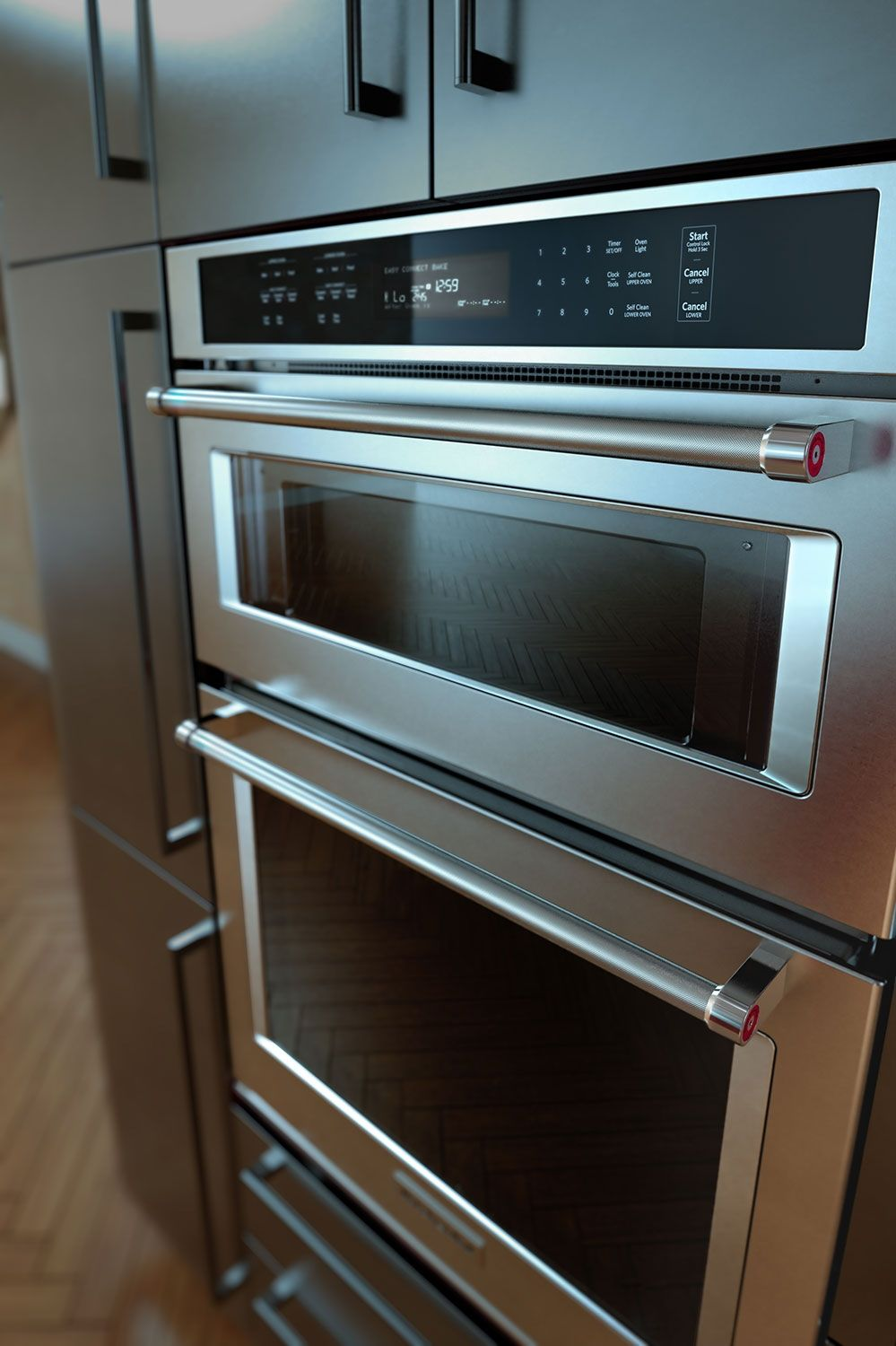 KOCE500ESS/The Brick/$5184.97/Cooking Products   KitchenAid 30u201d Double Wall  Oven With Microwave And Conventional Oven   Stainless Steel