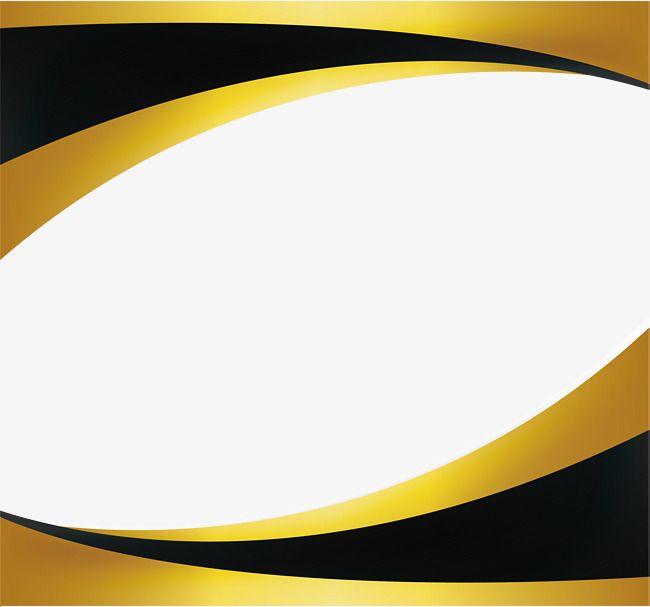 Black Gold Wave Border Frame Border Design Poster Background