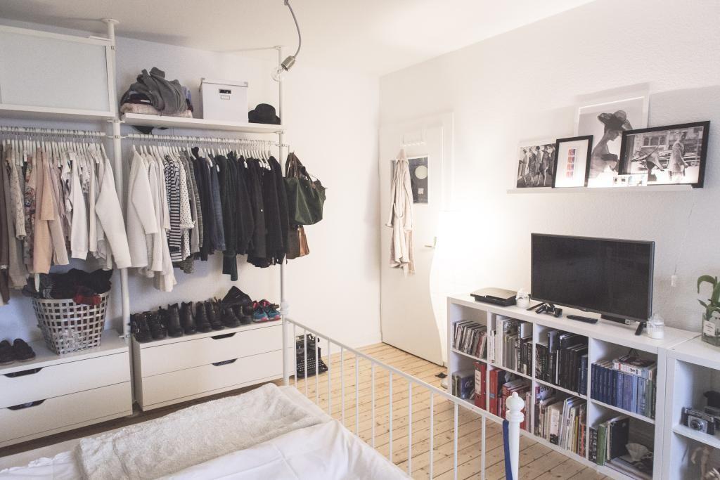 Studio Wohnung, Offener Kleiderschrank, Haus Interieu Design, Wohnideen  Schlafzimmer, Schlafzimmer Einrichtung, Studentenwohnungen, Kleine Räume,  ...