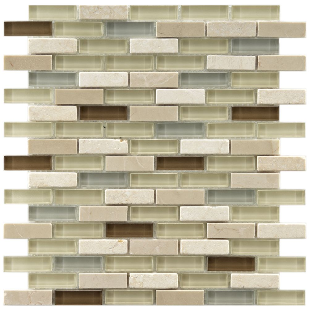 Somertile reflections subway york stone and glass mosaic tiles somertile reflections subway york stone and glass mosaic tiles pack of 10 overstock dailygadgetfo Choice Image