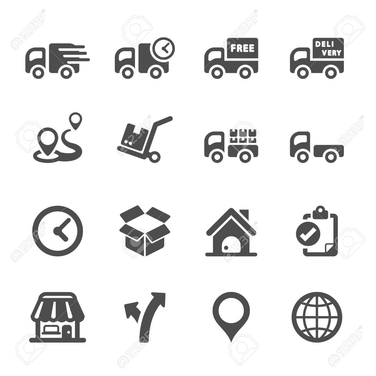 Logistic Icon Set 2 Vector Affiliate Icon Logistic Vector Set
