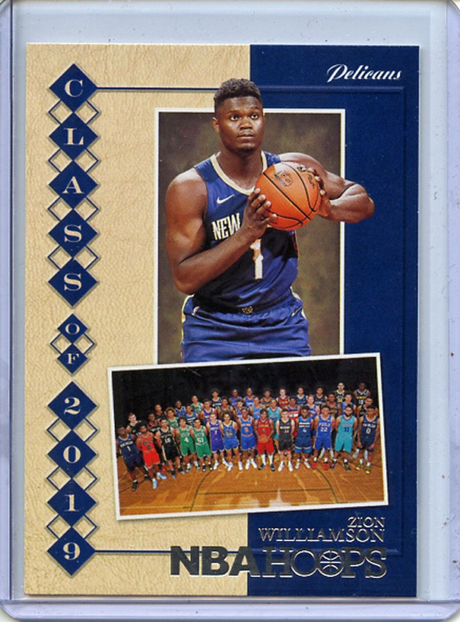 Zion Williamson 2019 20 Hoops Class Of 2019 7 In 2020 Class Of 2019 Team Names New Orleans Pelicans